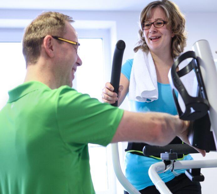 Fitness Training auf dem Crosstrainer