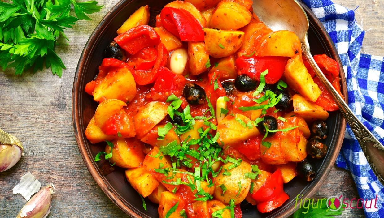 Leckeres Rezept Ragout mit Tomaten Paprika und Kartoffeln